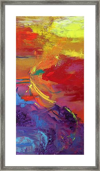 Rainbow Dance Framed Print by Sabra Chili