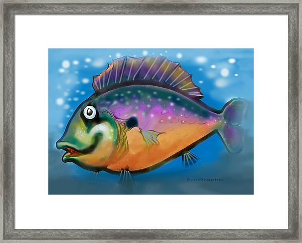Rainbow Fish Framed Print