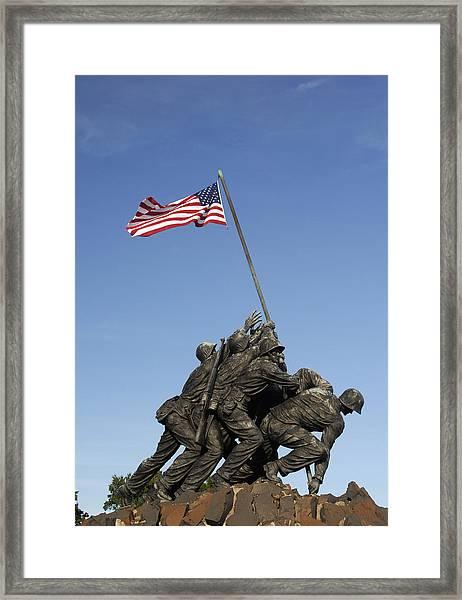 Raising The Flag On Iwo - 799 Framed Print