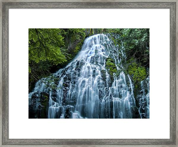 Ramona Falls Cascade Framed Print