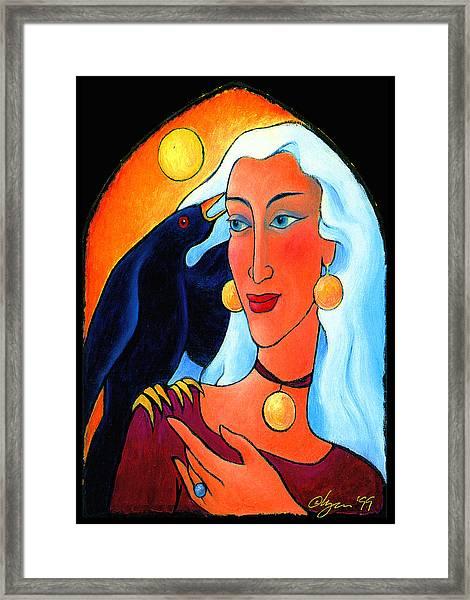 Raven Speaks Framed Print