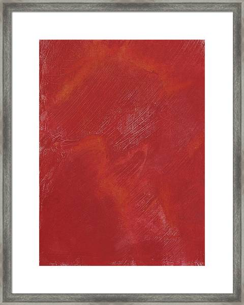 Red Field Framed Print