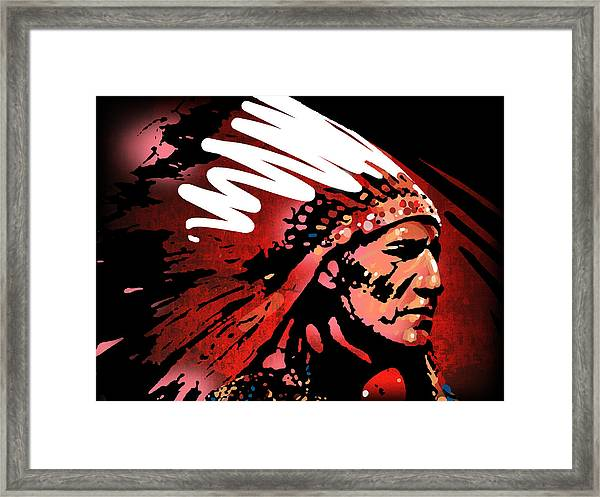 Red Pipe Framed Print