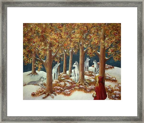 Red Ridinghood Comes Home Framed Print
