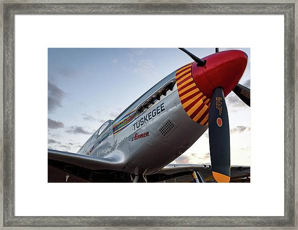 Red Tail At Dusk - 2017 Christopher Buff, Www.aviationbuff.com Framed Print