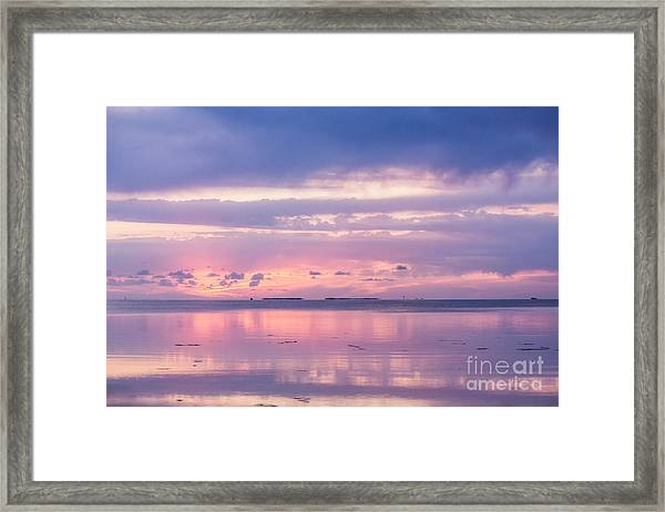 Reflections At Sunset In Key Largo Framed Print