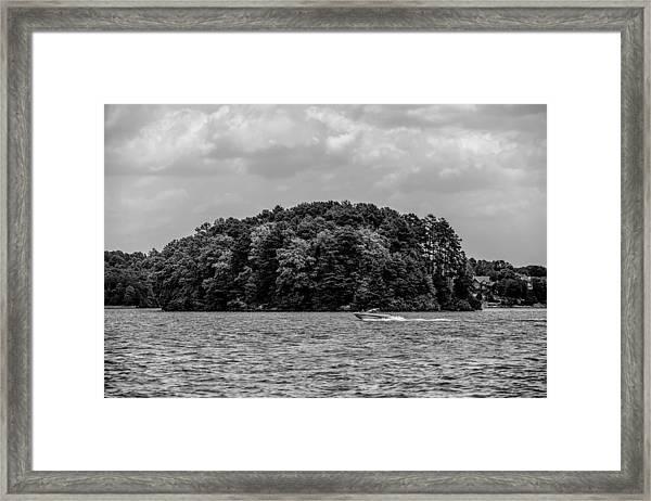 Relaxing On Lake Keowee In South Carolina Framed Print