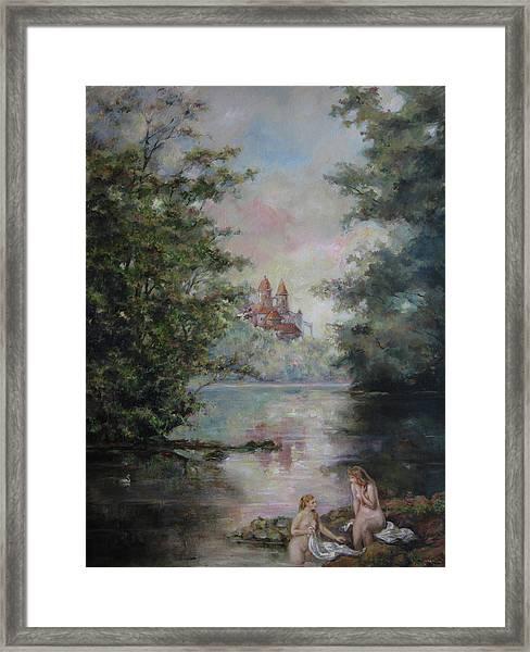 Renoir Lives Here Framed Print