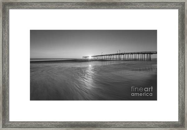 Rise And Shine At Nags Head Pier Framed Print