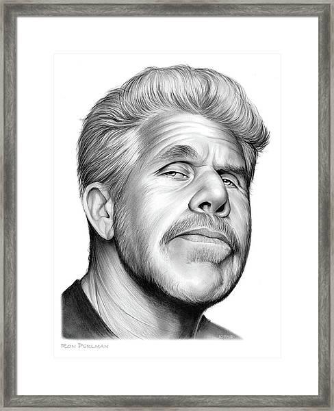 Ron Perlman Framed Print