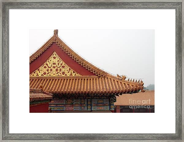 Roof Forbidden City Beijing China Framed Print