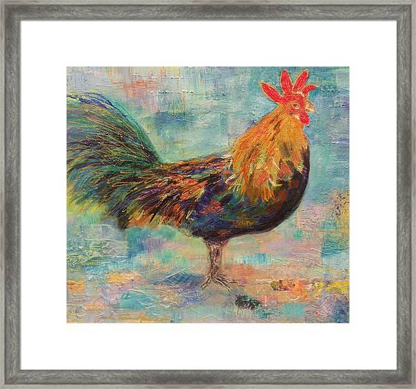 Regal Rooster Framed Print