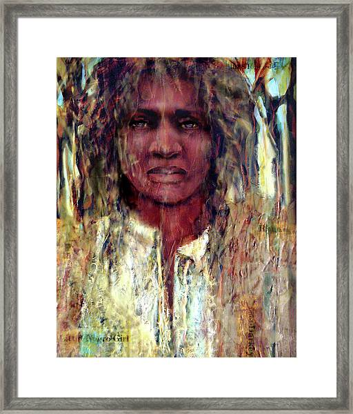 Runaway Darkey Framed Print