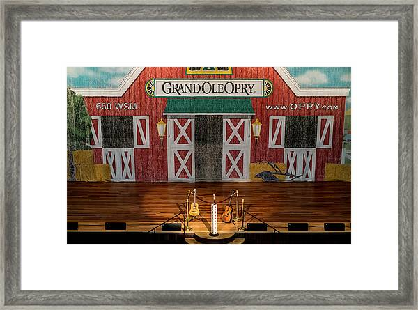 Ryman Opry Stage Framed Print