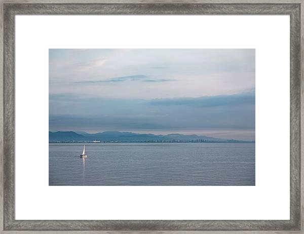 Sailing To Shore Framed Print