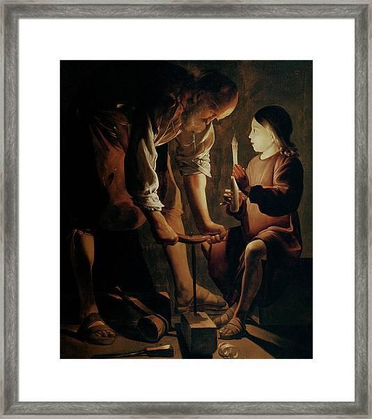 Saint Joseph The Carpenter  Framed Print