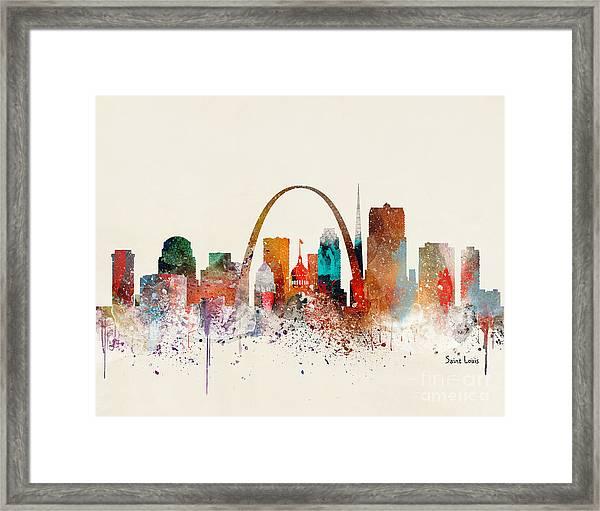 Saint Louis Skyline Framed Print