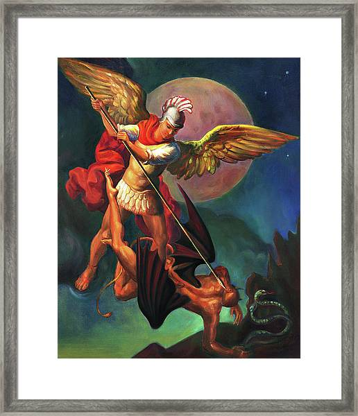 Saint Michael The Warrior Archangel Framed Print