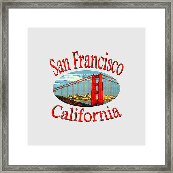 San Francisco California Design Framed Print