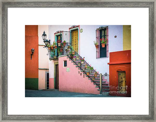 San Roque Stairs Framed Print