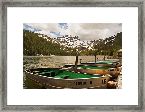 Sardine Lake Framed Print