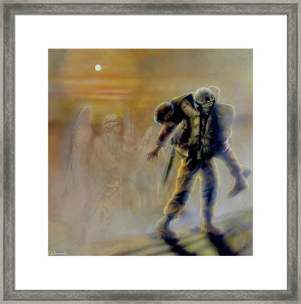 Savior In A Storm Framed Print