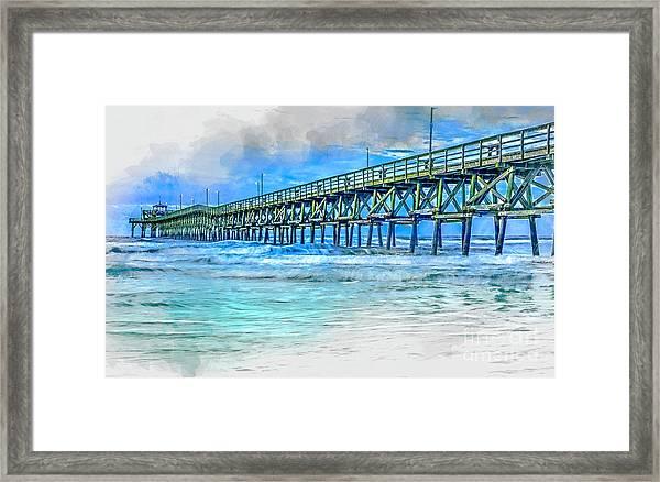 Sea Blue - Cherry Grove Pier Framed Print