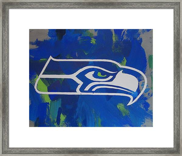 Framed Print featuring the painting Seahawks Fan by Candace Shrope