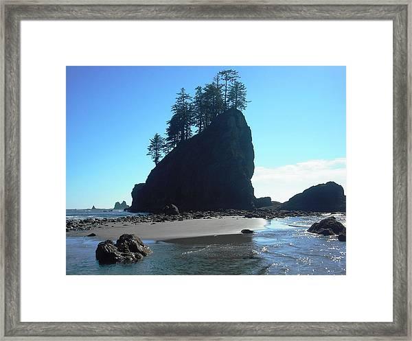 Seastacks At Second Beach La Push Framed Print