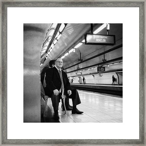 Señor #señor #man  #portrait Framed Print