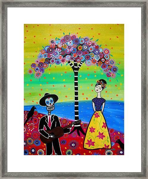 Serenading Frida Framed Print