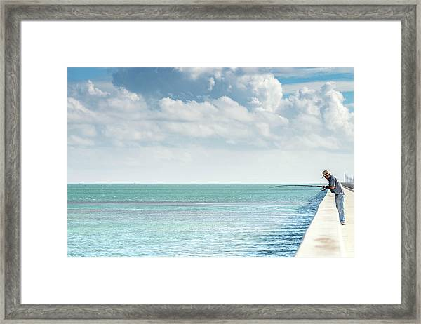 Seven Mile Fishing Framed Print