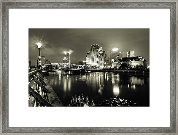 Framed Print featuring the photograph Shanghai Nights by Chris Cousins
