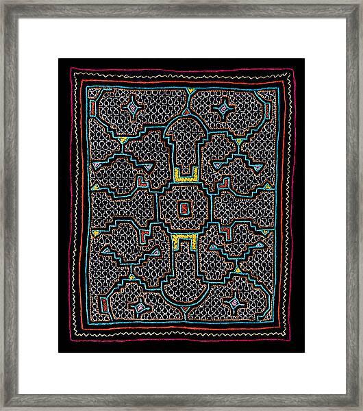 Shipibo Art Framed Print