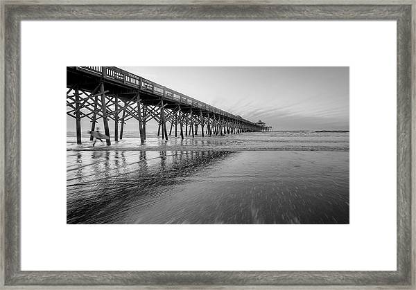 Shoot The Pier Framed Print by Michael Donahue