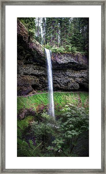 Silver State Waterfall Framed Print