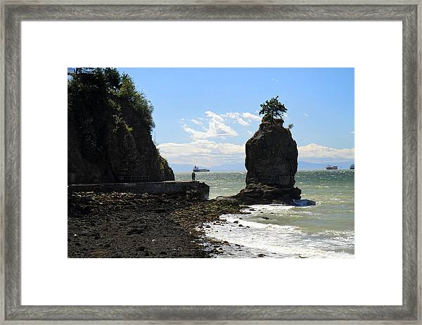 Siwash Rock Stanley Park Vancouver Framed Print by Pierre Leclerc Photography