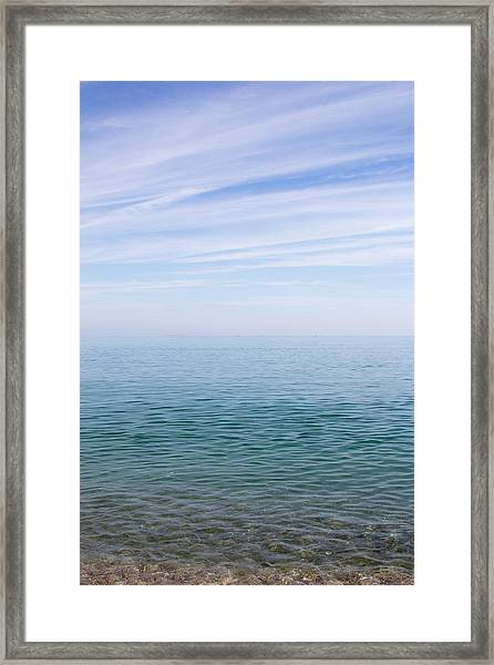 Sky To Shore Framed Print