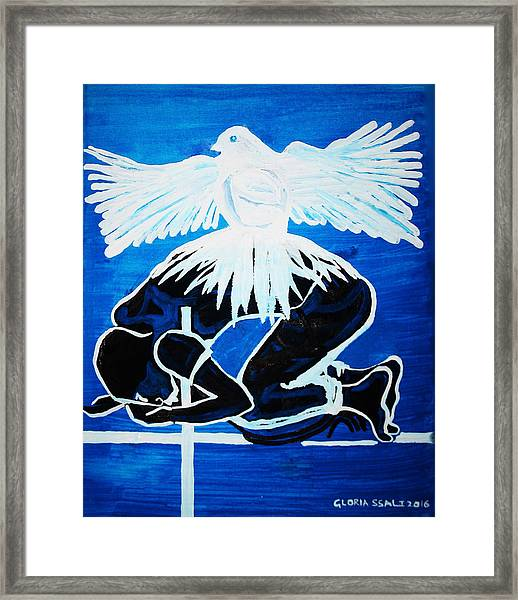 Slain In The Holy Spirit Framed Print