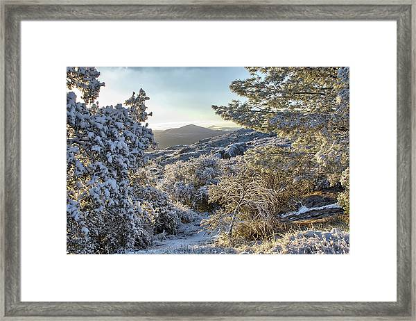 Snow At Sunrise 3 Framed Print