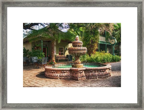 Spanish Fountain Framed Print