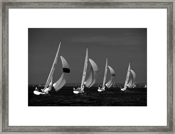 Spinnaker Run Framed Print