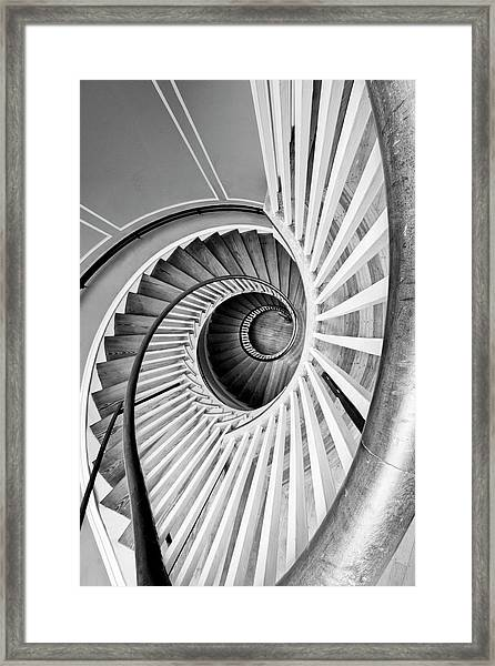 Spiral Staircase Lowndes Grove Framed Print