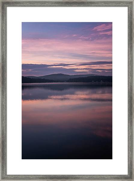 Spofford Lake Sunrise Framed Print
