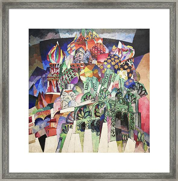St. Basil's Cathedral Framed Print by Aristarkh Lentulov