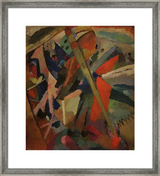 St. George Framed Print by Wassily Kandinsky