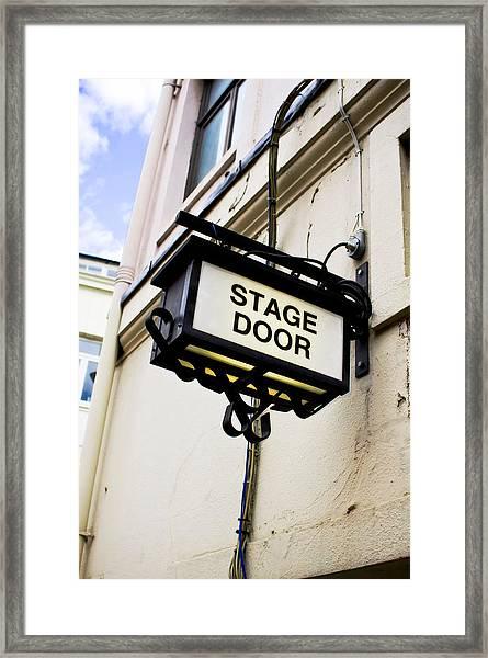 Stage Door Sign Framed Print