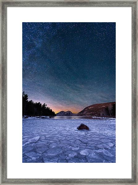 Stars On Ice Framed Print