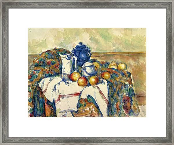 Still Life With Blue Pot Framed Print