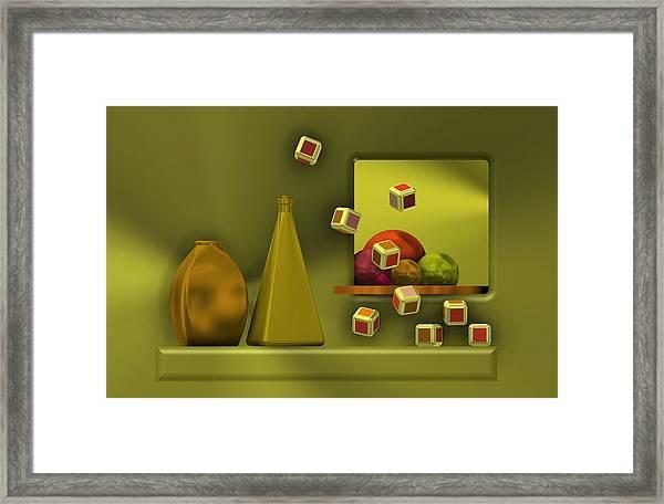 Still Life With Cubes Framed Print